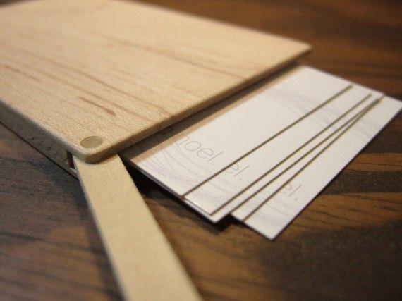 wood business card holder. slim. maple. por yournestinspired