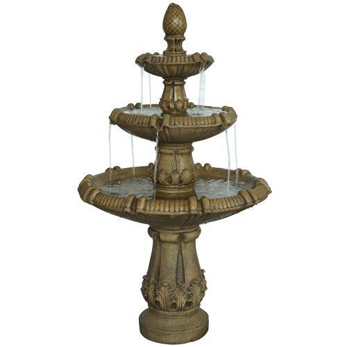 High Quality Classical Three Tier Outdoor Water Fountain   Great For Gardens, Outdoor  Patios Or Other Landscaped Outdoor Area. The Calming Sounds Of Water Are  Sure To ...