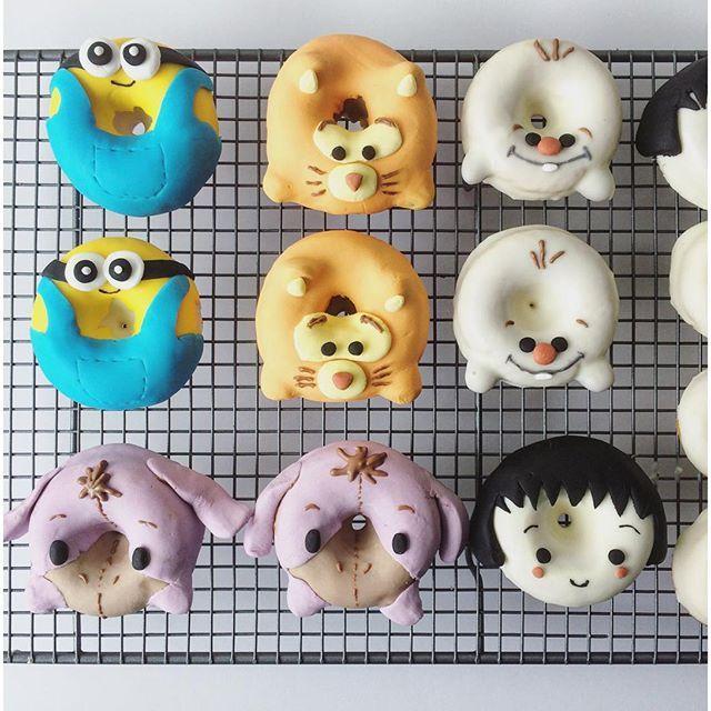 Cartoon donut designs. Adorable Donut Designs from Erina. Cute donut design. 甜甜圈