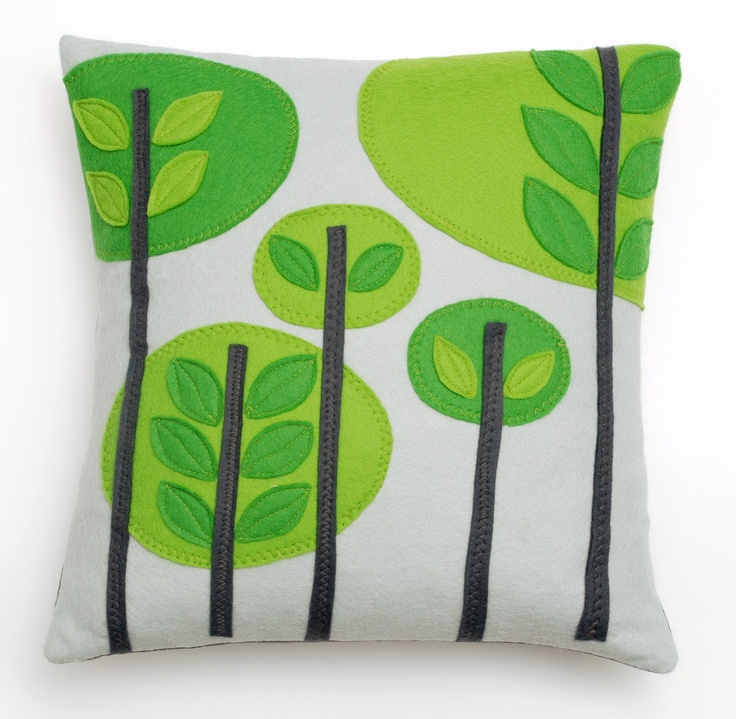 The Orchard Cushion from Nugget. Featured in April's Ideal Home Magazine, '3 of the best Scandi-Style Green Buys', very proud!