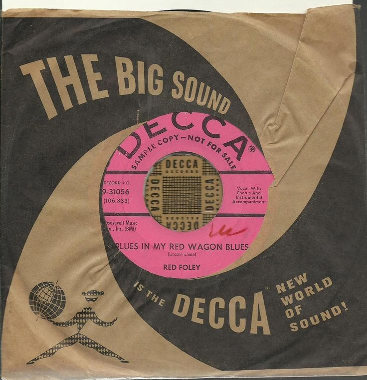 RED FOLEY BLUES IN MY RED WAGON COUNTRY ROCKABILLY OLDIES BOPPER 45 RPM RECORD #HonkyTonk