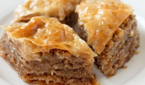BAKLAVA (THE PERFECT RECIPE) Baklava is another pastry that is typical of the cuisines of the former Ottoman Empire. Today, it is one of the most popular desserts in Macedonia. It is a rich sweet pastry made of layers covered with sherbet (syrup) which seduces with it's taste. This is the perfect recipe of baklava. You can find the phyllo dough for this recipe in the freezer section of most grocery stores.