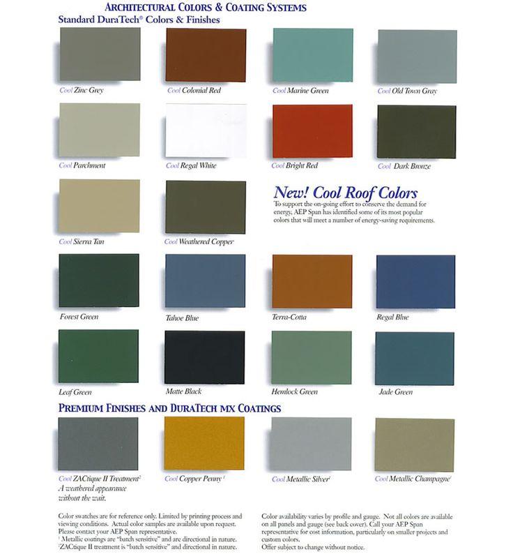 Valspar Color Chart High Quality Metal Roofing Panels