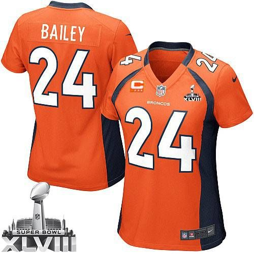 (limited nike womens champ bailey orange super bowl xlviii jersey) denver broncos home nfl easy retu