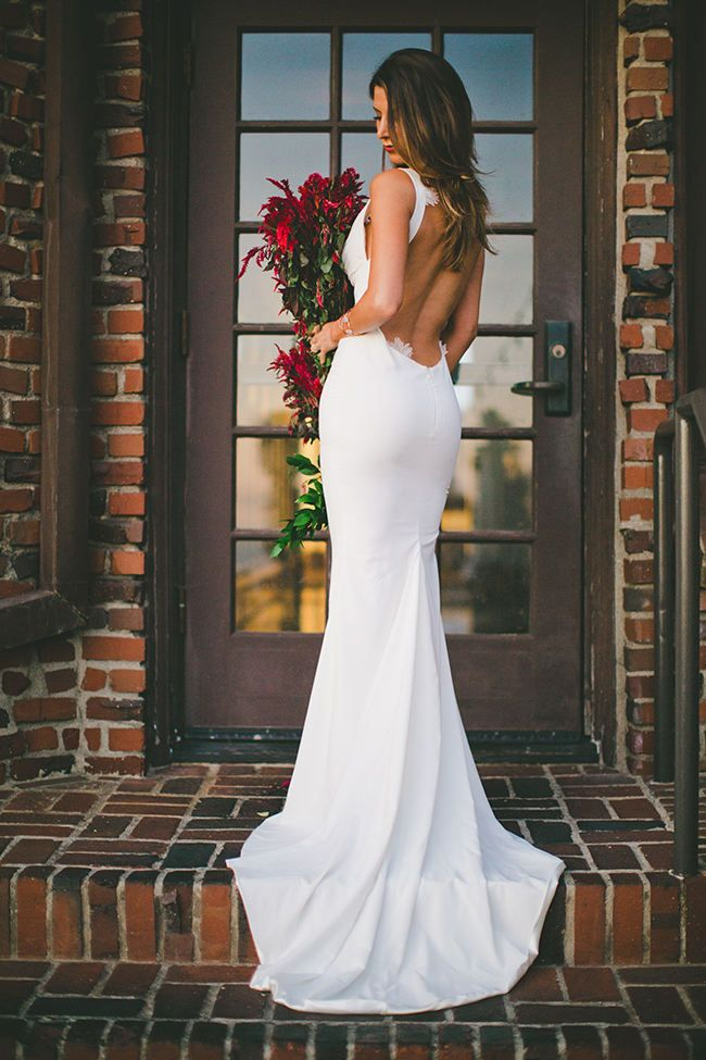 Wedding Dress Spotlight: Katie May's Backless Barcelona Gown {Images by Abbi}  Wedding Blog   Confetti Daydreams