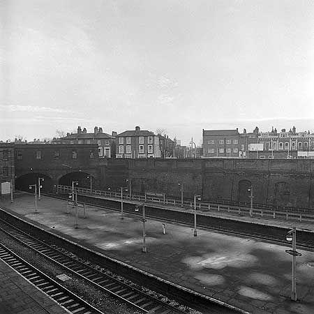 Kentish Town Railway Station, Kentish Town Road, looking south