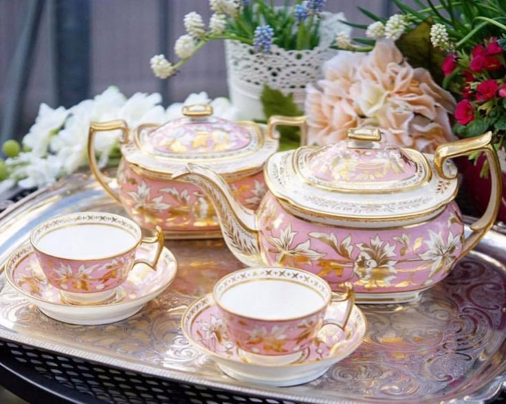 A delightful tea set out on a tray makes tea time so much more special!