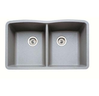 "View the Blanco 440183 Silgranit 32"" x 19-1/4"" Double Basin Granite Composite Kitchen Sink at Build.com."