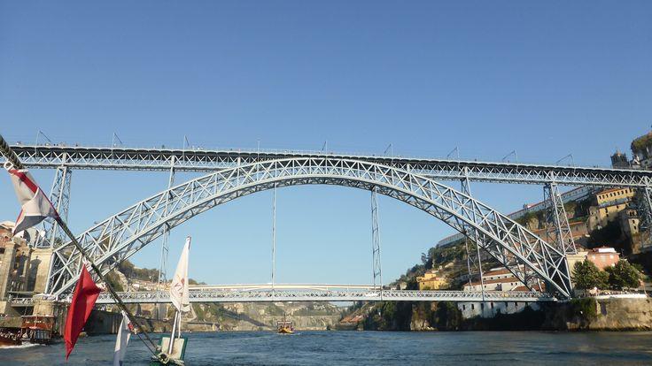 Bridge across the Douro river in Porto