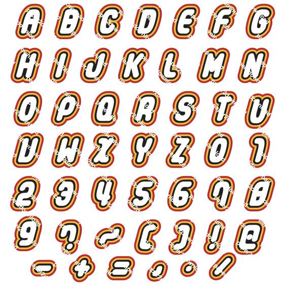 Alphabet  48 Letters Numbers & Punctuation  by paper4download