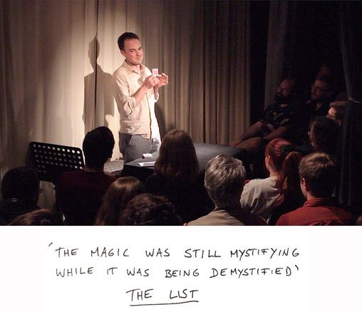 Sorry this is a bit late; just had a recommendation from Quentin Reynolds… At the Sheffield University Drama Studio this Wednesday 9 March, Vincent Gambini's This is not a magic show. &…
