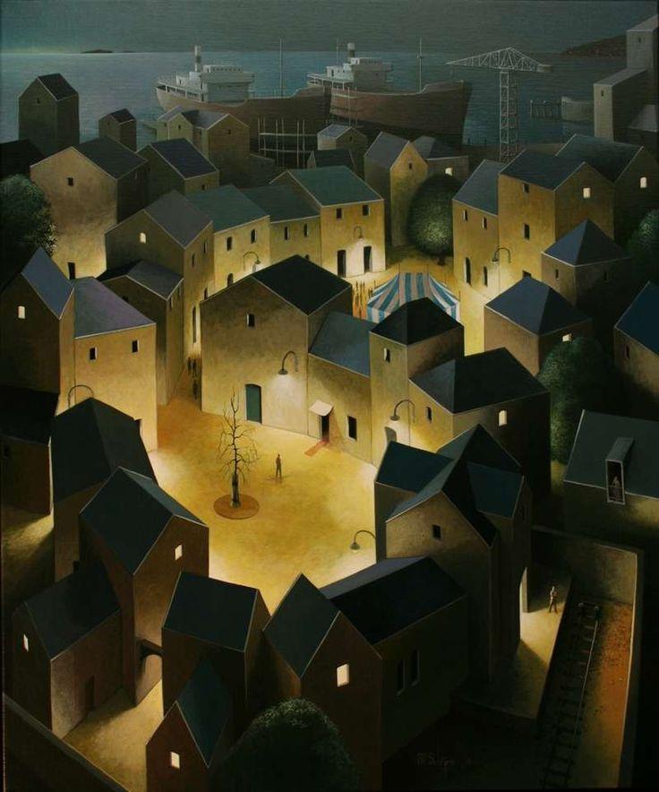 Michiel Schrijver - Nightsquares. 120 x 100 cm. 2012: