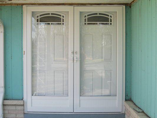 double entry door with storm door double entry doors with new