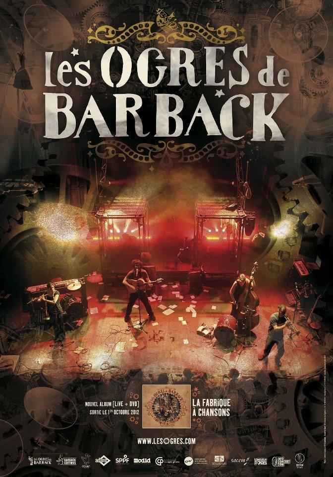 Affiche pour la sortie du nouvel album des Ogres de Barback.