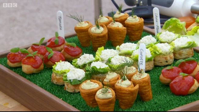 Frances vegetable canapes including cauliflower scones for French canape ideas