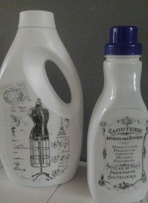 Dit staat toch veel leuker bij je wasmachine. Als de fles leeg is vul je hem gewoon met nieuw wasmiddel.
