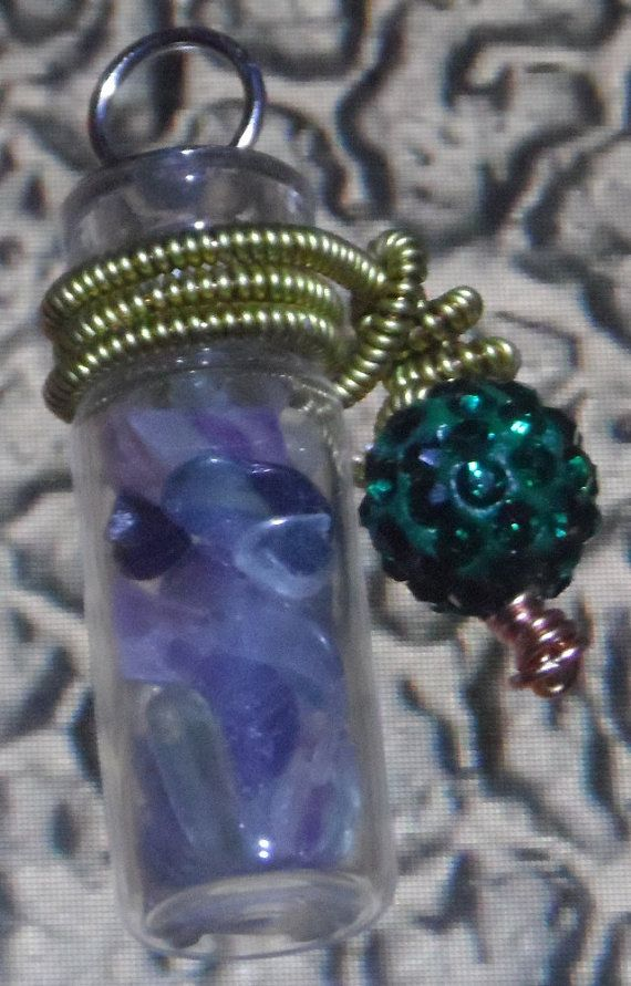 Beautiful tiny fluorite crystals in a wire by UniqueFantasies