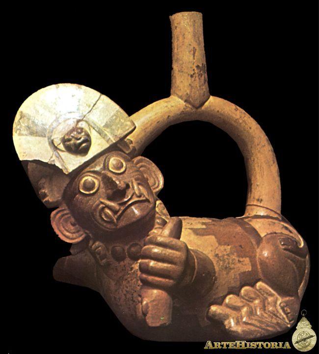 Vasija antropomorfa. Cultura Mochica (Perú) Autor: Fecha: 400 a. C.-500 d. C. Museo: Características: Estilo: Material: Cerámica Pintada