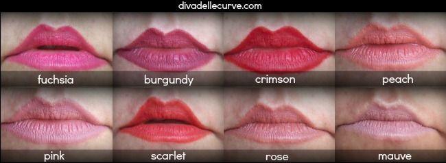Matite labbra Neve Cosmetics, 100% bio ....swatches by Diva delle Curve