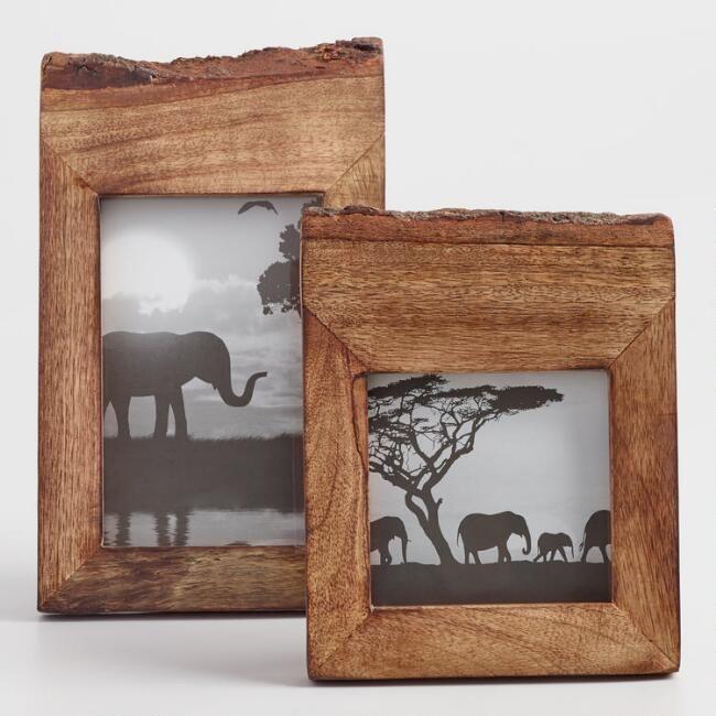 Raw Edge Wood Frame | World Market