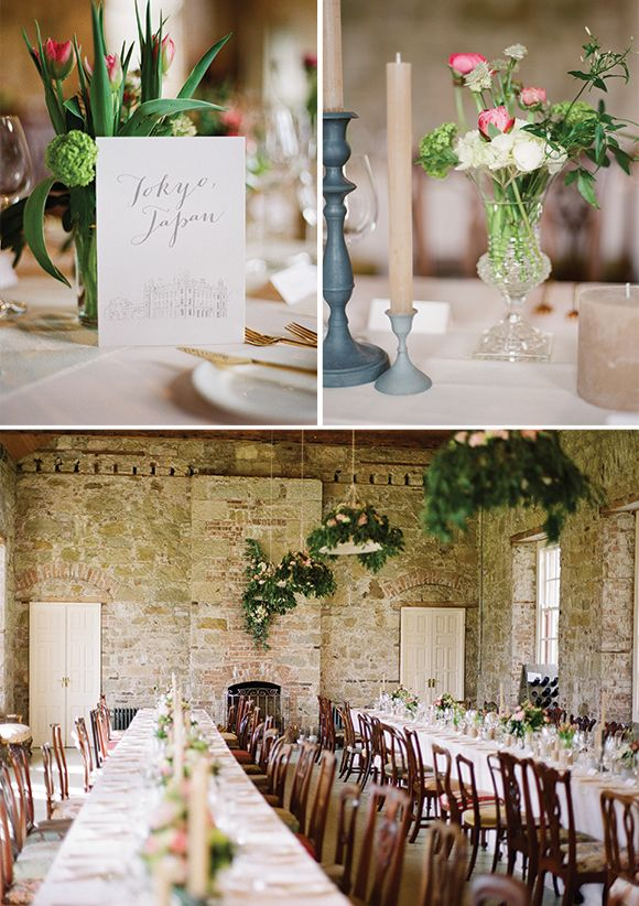 Borris House Wedding featured on Magnolia Rouge, photography by Brosnan Photographic, styling by Pearl & Godiva, cakes by Cloudberry Bakery