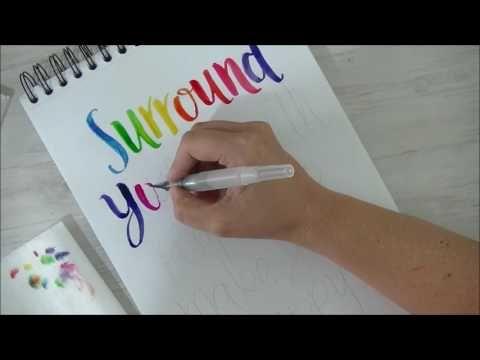 Tutorial Parte 3 Lettering (Caligrafía) en español - YouTube