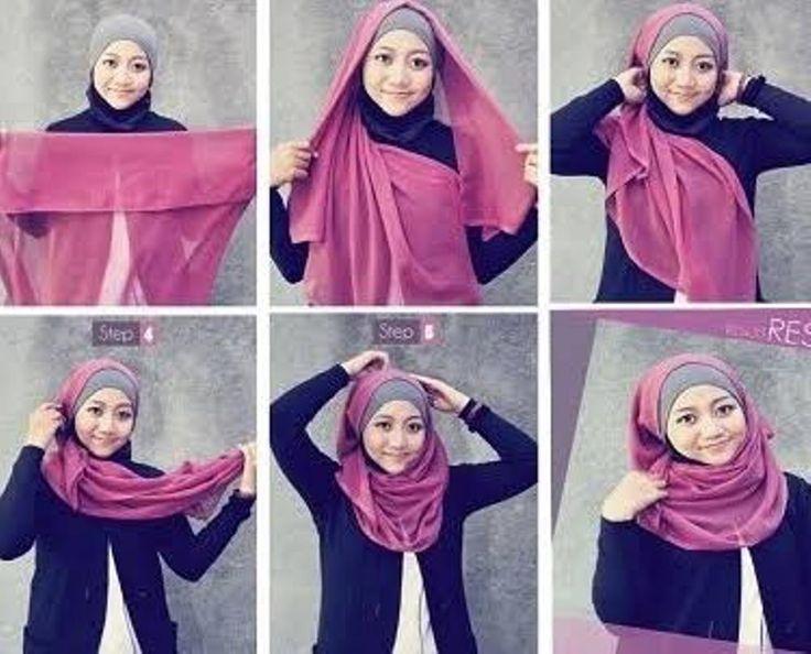Tutorial Hijab Segi Empat yang Mudah dan Cocok Untuk Kegiatan Sehari-hari