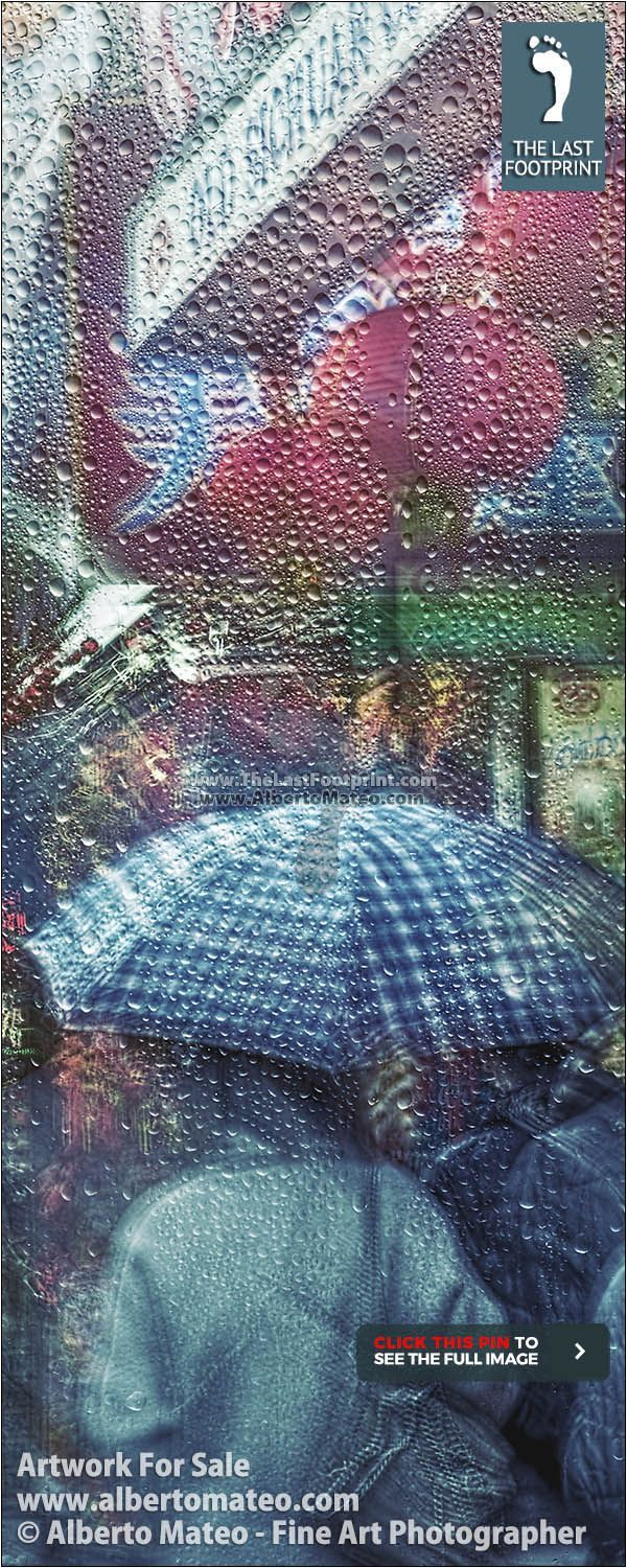 """""""NEW YORK THROUGH THE RAIN"""" Series, ARTWORK FOR SALE   Rain in Chinatown, Manhattan, NY, Print #1/28 by Alberto Mateo   Hand-signed and Certified Original Fine Art Print.   No more than 128 Prints will be ever produced.  Different sizes up to 28x40 inches (70x105 cm ) as Lambda, Canvas and Cotton Paper Prints.   BUY Fine Art Photography by ALBERTO MATEO.   VISIT http://www.albertomateo.com to see more Collections and Prints. 195$"""