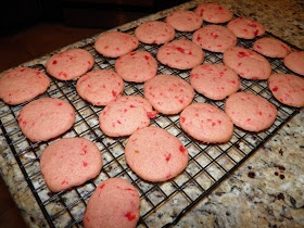 Cherry Icebox Cookies, copy cat recipe from the famous Collin Street Bakery in Texas