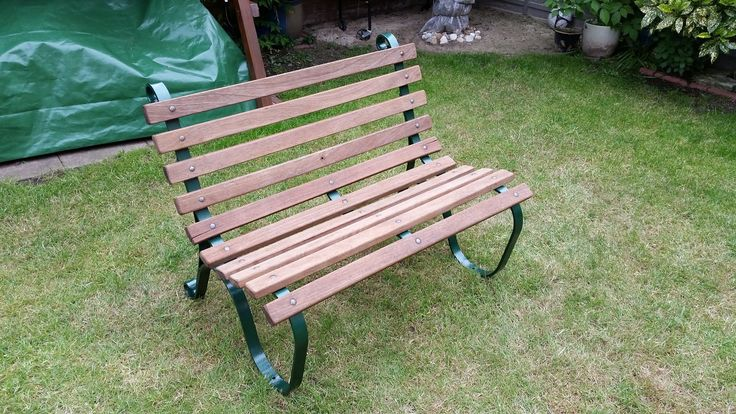 How to restore a teak and metal garden bench