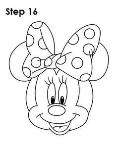Minnie Mouse Bow Drawing : minnie, mouse, drawing, Printable, Minnie, Mouse, Templates, Birthday, Cakes,, Cookies,, Coloring, Pages