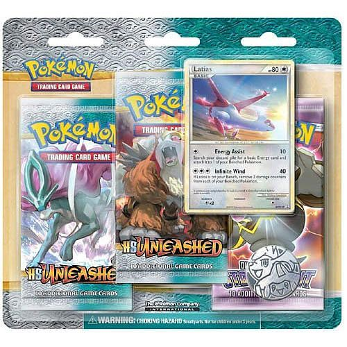 Buy Pokemon 2010 HS Unleashed 3-Pack Blister - This blister pack contains three booster packs and one of two new promo cards for HS - Unleashed. Description from amazon.com. I searched for this on bing.com/images