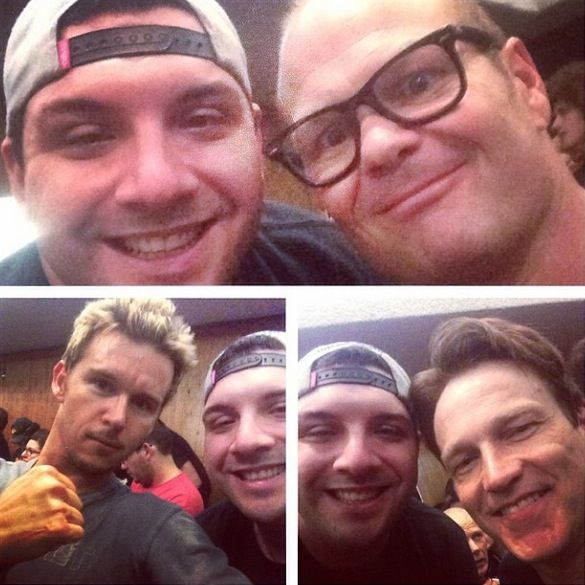 Stephen attended a wrestling match in Reseda with his True Blood buddies Joe Manganiello, Ryan Kwanten and Chris Bauer.