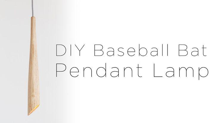 DIY Wooden Baseball Bat Lamp