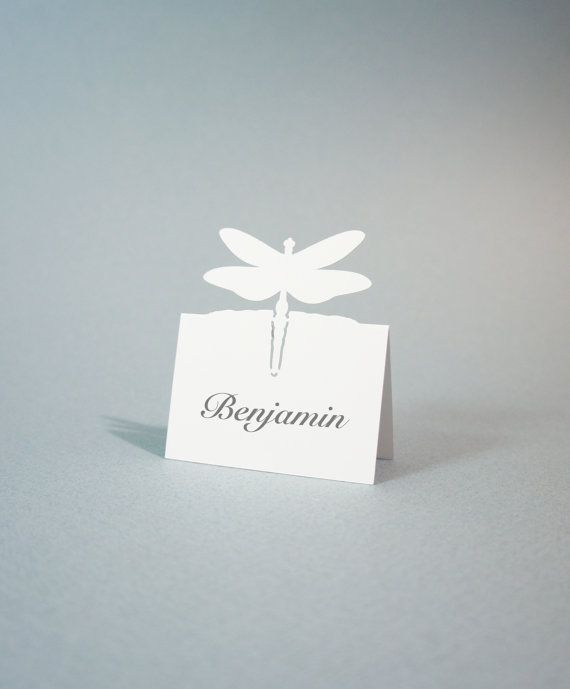Dragonfly  Wedding Place Cards  Dragonfly Place by JonNiPaperGoods, $100.00