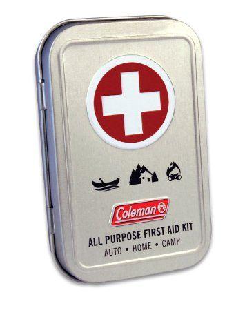 Coleman All Purpose First Aid Tin 27-Piece, Metal Tin