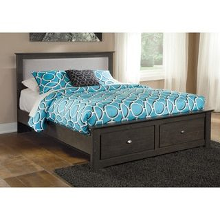 Shop for Signature Design By Ashley Shylyn Queen Charcoal Panel Bed with Storage. Get free shipping at Overstock.com - Your Online Furniture Outlet Store! Get 5% in rewards with Club O!