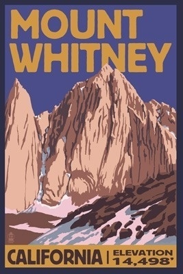 Mount Whitney Lantern Press-- I will conquer you. Yes, yes I will.