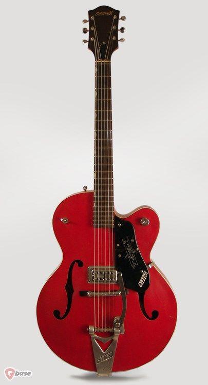 "1960 Gretsch PX-6119 Chet Atkins Tennessean Western Orange"" lacquer > Guitars : Archtop Electric & Acoustic - Retrofret Vintage Guitars"