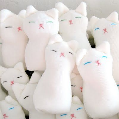 Boo-Boo kitty stress relief  dolls.  Much cuter than 'rice socks'.