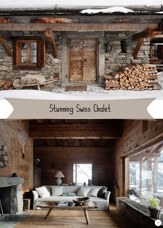 Share  Tweet  + 1  Mail   It is still wintertime and some of us might envisage a little ski trip to the cosmopolitan Swiss Alps. Well, if you do, I hope your accommodation will be as sophisticated and refined as this Swiss chalet – the stunning refuge of Belgian antique dealer and interior designer Axel Vervoordt.      A symphony of wood and stone at the end of a winding and steep pathway to an alpine peak in Swiss winter resort Verbier combines traditional architecture with sublime interior…