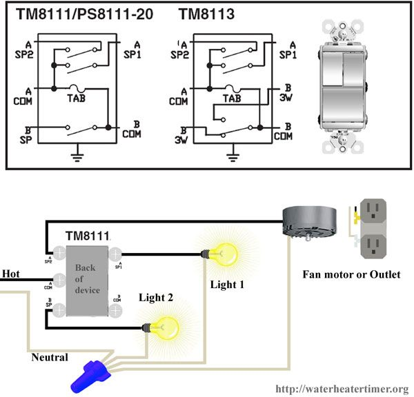 wiring diagram how to wire tm8111 switch