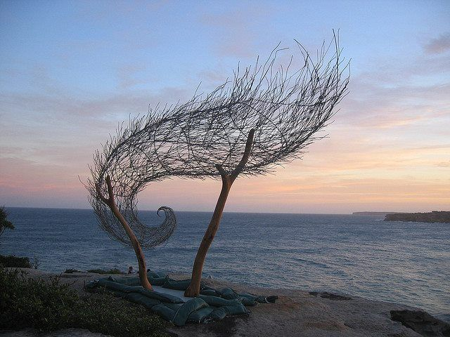 'Wind Spiral II' (2006) by artist Bronwyn Berman as part of the 10th Annual Sculptures by the Sea Exhibition, Sydney, Australia. via Dav1d on flickr