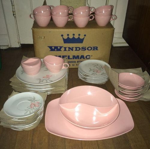 vintage-windsor-melmac-pink-magnolia-dishes-new-box-nos-45-pcs_172072984336.jpg (500×498)
