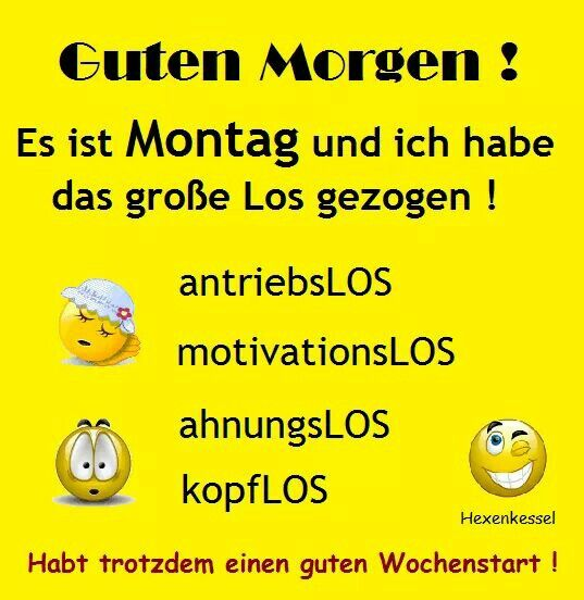 Montags spruch