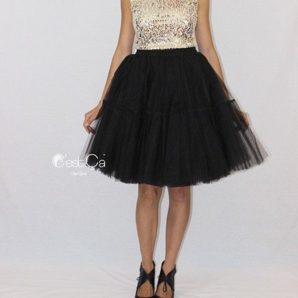 Beatrice extra puffy tiered black tulle skirt (1)