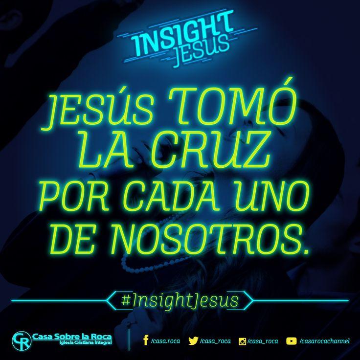 No hay que tener miedo en llevar la Cruz, Jesús tomó la cruz por cada uno de nosotros. http://devocional.casaroca.org/jv/02feb/ #InsightJesus