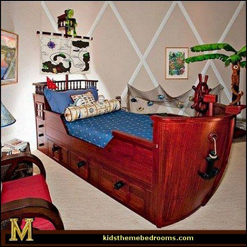 Pirate Bedrooms   Pirate Themed Furniture   Nautical Theme Decorating Ideas    Peter Pan