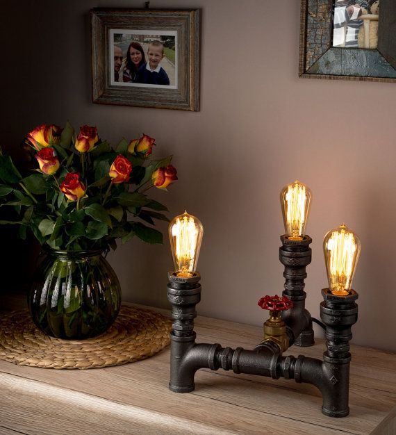 • Unique piece of furniture that can add to your home a bit vintage or industrial taste • Can be used in a variety of locations in your home • Unique and extraordinary lamp is hand-made in UK from iron pipe and cast iron fittings • Stylish Retro E27 Edison light bulb 40W included • LUXMA® is a Registered Trademark and NO re-seller is authorised (beware of imitations)  LUXMA® - Original hand-crafted home and restaurant lighting fixtures.  Vintage, Industrial & Retro Lighting for Homes…