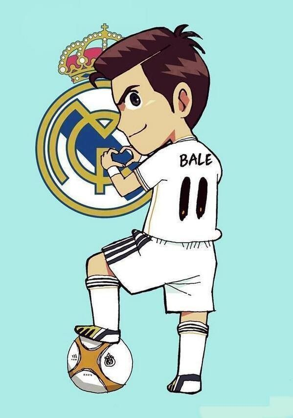 Nothing is more adorable than a Gareth Bale Chibi. Gotta learn to draw one now.
